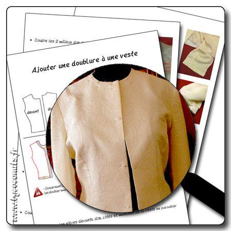 tuto ajouter une doublure une veste en pdf des techniques pinterest manche ps and. Black Bedroom Furniture Sets. Home Design Ideas