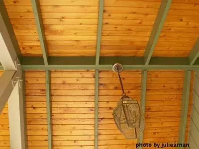 how to make tongue and groove ceiling square