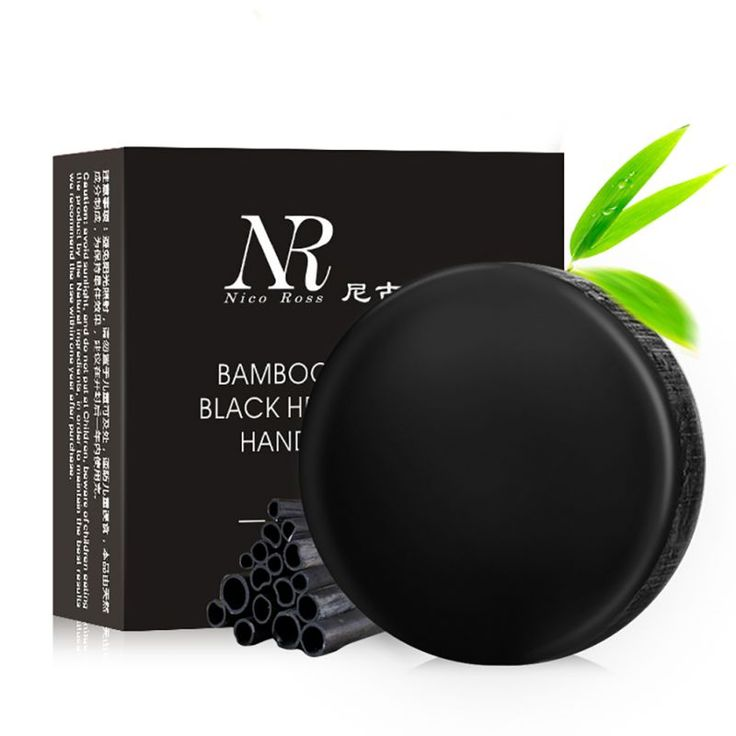 6027 4 in 1 Ladies Black Bamboo Charcoal Whitening Handmade Soap Eliminating Blackhead Acne Oil Control Shrink Pores Soap