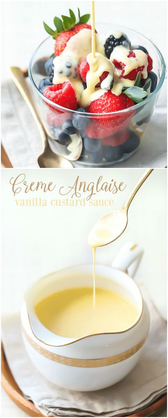 Creme Anglaise: classic vanilla custard sauce