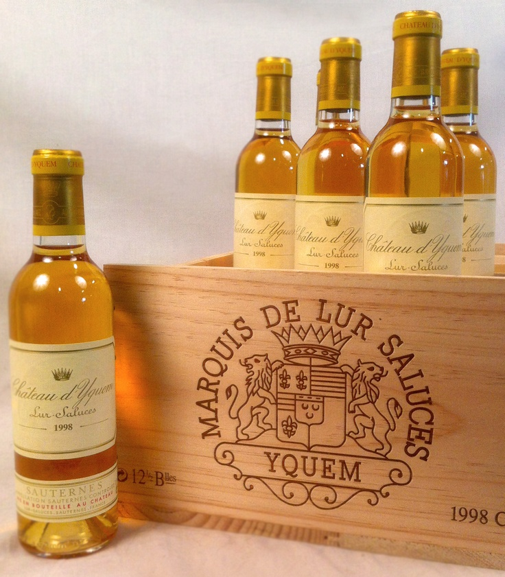 Oh my gosh!  This is very, very expensive!  On my bottle bucket list!  1998 Chateau d'Yquem!