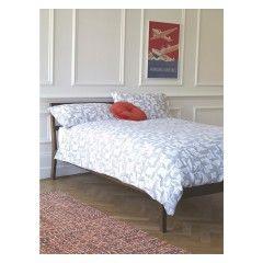 MINERAL Grey patterned kingsize duvet cover set