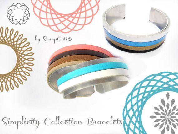 Beautiful Women Leather Bracelet Simplicity by ScrapCati on Etsy, €12.00