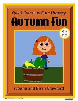 For 4th grade - Autumn Fun Quick Common Core Literacy is a packet of ten different worksheets featuring a fall theme focusing on the English grammar and more. $: Quick Common, Cores Literacy, Worksheets Features, Fun Quick, Fall Themed, English Grammar, Common Cores, Themed Focus, Autumn Fun