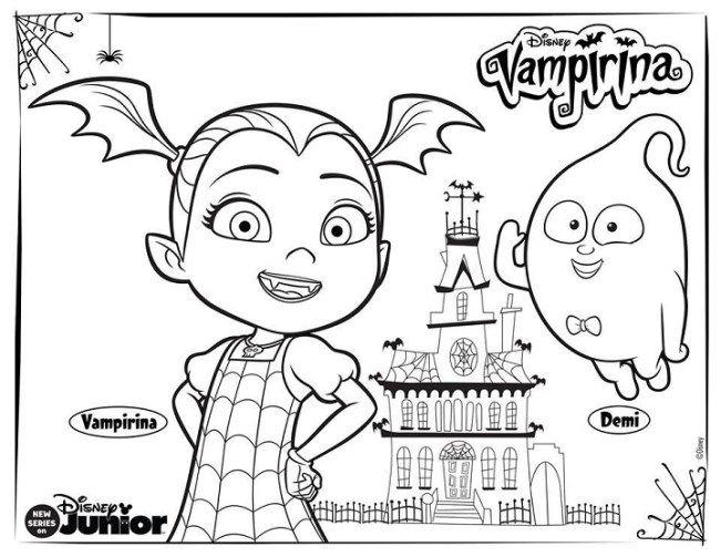 Dibujos De Vampirina Para Colorear Con Imagenes Paginas Para