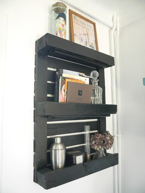 les 25 meilleures id es de la cat gorie etagere palette. Black Bedroom Furniture Sets. Home Design Ideas