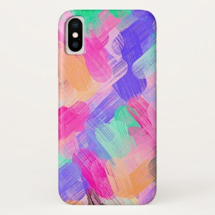 Pastel Colored Abstract Background #7 iPhone X Case - girly gift gifts ideas cyo diy special unique