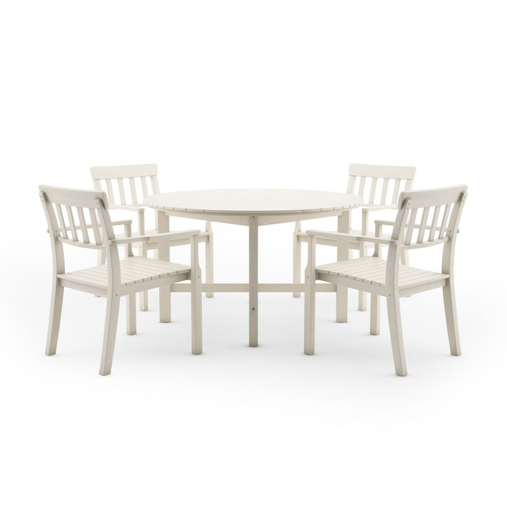 Free 3d model of ikea angso outdoor furnitures series set of six armchairs and round table, white . Vray, 3ds Max, Gamma 2,2 ready.