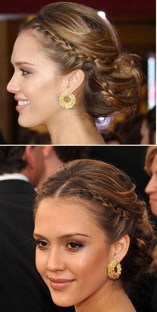 Wedding Hair: Jessica Alba's Braided Up-do, Given enough bobby pins, I think I could figure this one out.