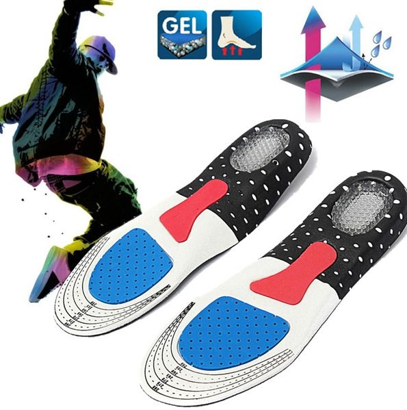 1 Pair Free Size Unisex Gel Orthotic Sport Shoe Pad Arch Support Insoles Insert  #Unbranded