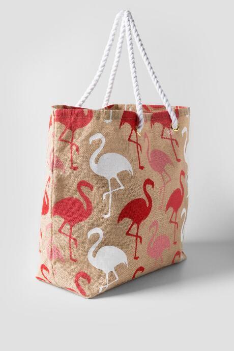 Flamingo Beach Tote $22.00 Francesca's