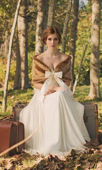 Aurora Fur Stole : Golden