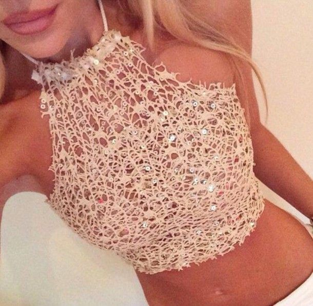 tank top shirt t-shirt top bra bralette cropped bustier crochet mesh sheer lace up party outfits casual classy style hot crop tops high top sneakers halter neck holiday season streetwear streetstyle