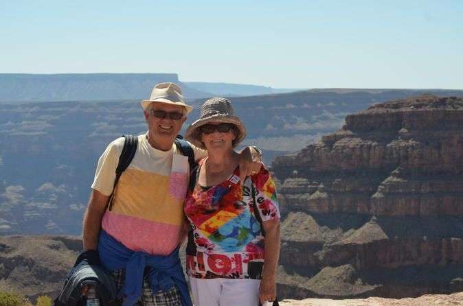 Ultimate 3-in-1 Grand Canyon Tour This 3-in-1 combo tour is the ultimate Grand Canyon experience! After a comfortable flight to the Grand Canyon West Rim from Las Vegas, enjoy an exciting helicopter tour to a private bluff along the Colorado River. Then, visit Eagle Point and Hualapai Village along the rim, followed by a meal at Guano Point overlooking the breathtaking canyon. Upgrade to enjoy admission to the Grand Canyon Skywalk for unbelievable panoramic views!  Yo...