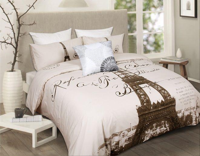 Vintage Paris bed set.