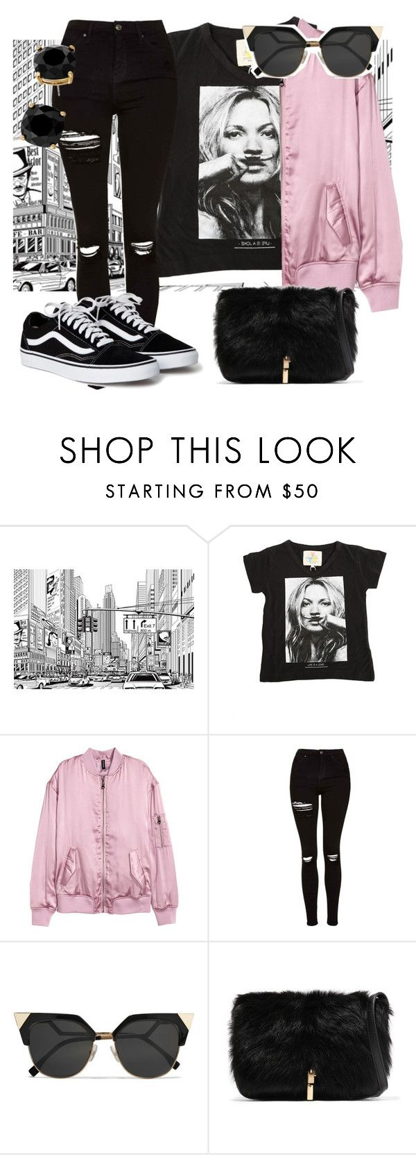 """""""walk with Kate.."""" by evitaom on Polyvore featuring ElevenParis, Topshop, Fendi, Elizabeth and James and Kate Spade"""
