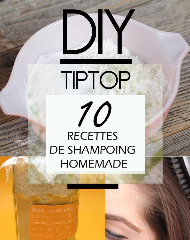 10 Recettes de shampoing homemade avec soins pour cheveux à faire vous même. DIY facile avec les ingrédients alimentaires courants. Intéressant pour les adeptes du No Poo.