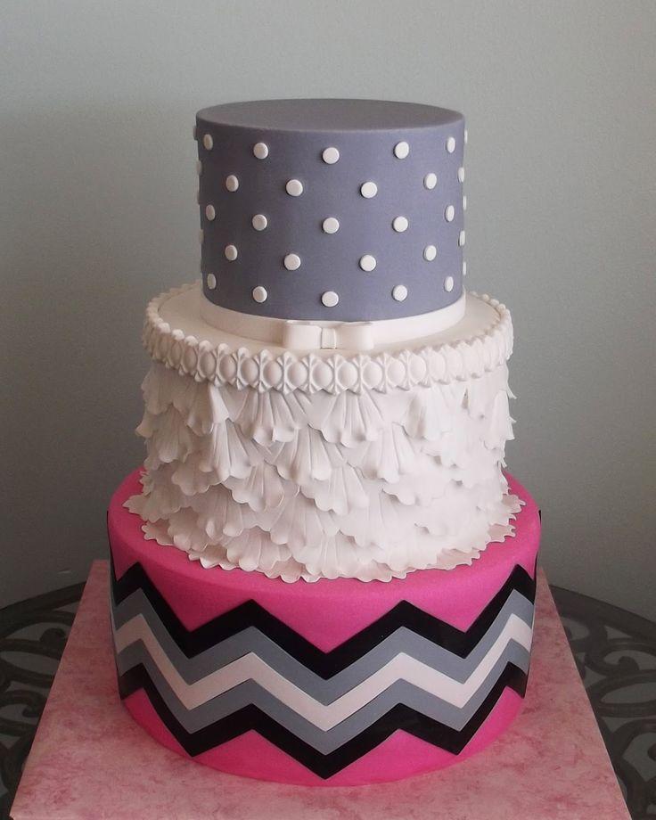 Cakes on pinterest chevron birthday cakes chevron cakes and orange