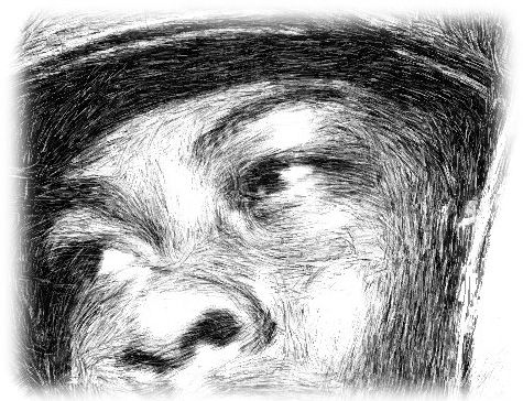 Even though the pressure of hatching lines are different, the image drawn with pen gives harsh and less flexible.