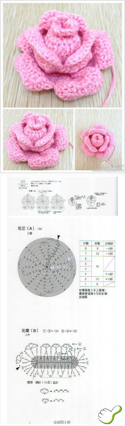 crocheted rose                                                                                                                                                                                 More