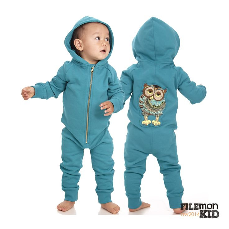 Onesie Hoot Hoot Blue grass