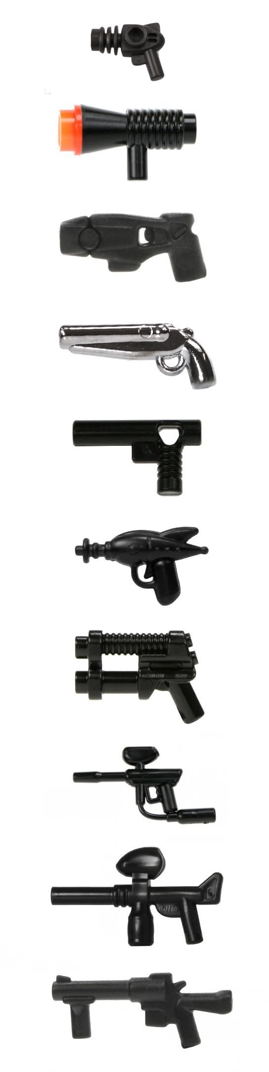 LEGO minifigure compatible miscellaneous guns