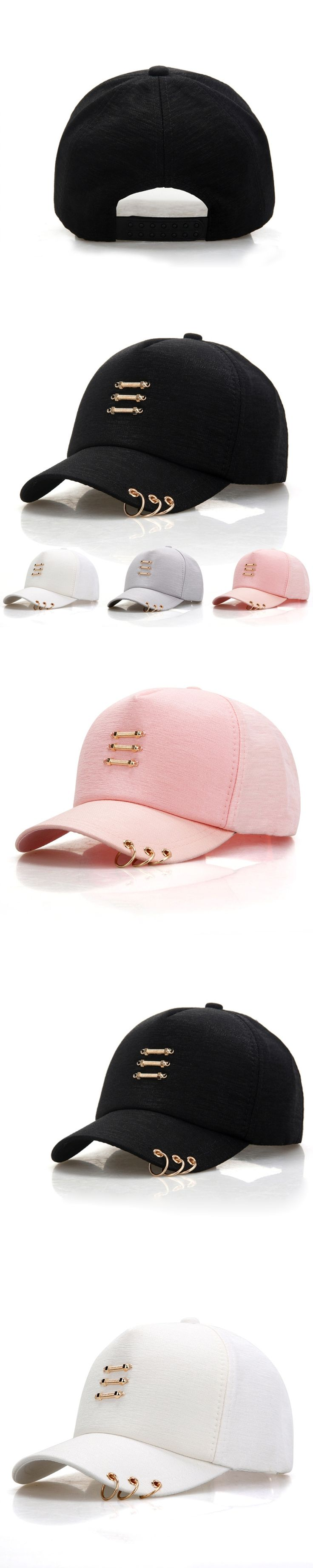 baseball cap For Men Women Sports hat with hoop male hip hop cap Casquette Gorras snapback caps for ladies black white pink gray