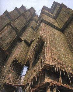 Bambusgerüst, Gerüstbau, Bambusskulptur GMP Architekten - Bambusprojekte, Bambusbau, Bambushaus, Bambuskonstruktionen - CONBAM - Spezialist für Bambuskonstruktionen, Bambusrohr und Bambusholz