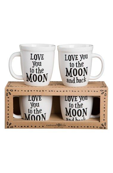 Natural Life 'Love You To The Moon (And Back)' Mug Set (Set of 2) available at #Nordstrom