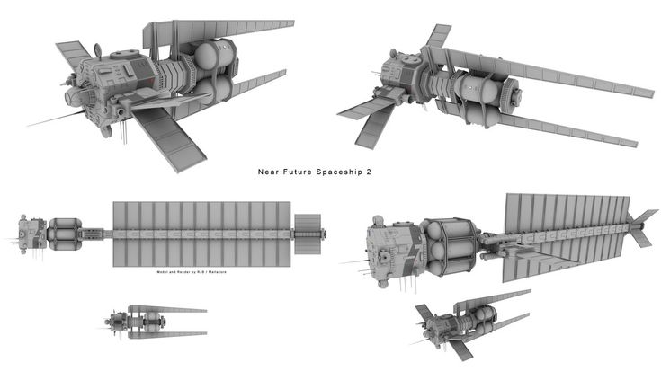 Near Future Spaceship 2 by Mallacore.deviantart.com on @DeviantArt
