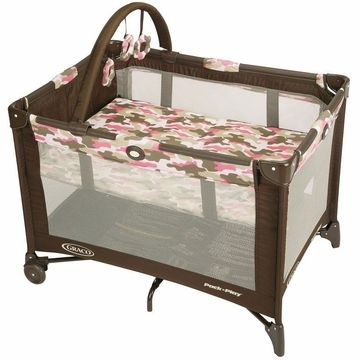 Graco Pack 'N Play with Bassinet, On The Go - Camo Jane