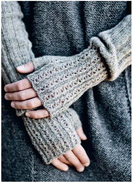 pure perfect, long fingerless mittens