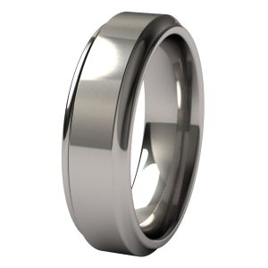 Spectacular Classic men us wedding band style crafted with hypoallergenic and durable Titanium