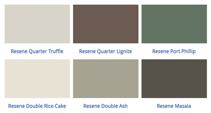Q. What exterior house, trim and balcony/steps colours do you recommend to go with brown aluminium joinery?  A. Perhaps you could check out these colours - there are three in each scheme - main, trim and window shutters and balcony/steps. Option 1: Resene Quarter Truffle (main), Resene Quarter Lignite (trim and shutters) and Resene Port Phillip (balcony/steps), or Option 2: Resene Double Rice Cake (main), Resene Double Ash (trim and shutters) and Resene Masala (balcony/steps).