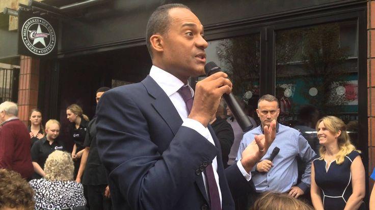 Creams Cafe Windsor launch day speech by Adam Afriyie MP Windsor