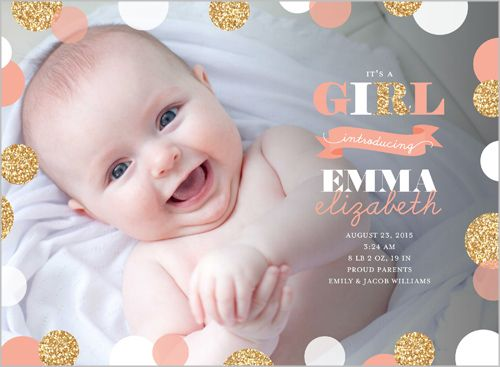 1000 images about birth announcements – Costco Birth Announcements