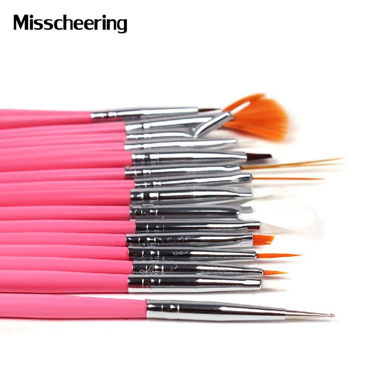 15pcs Professional UV Gel Acrylic Nail Art Brush Set,Nail Design Polish Painting Drawing Pen Perfect Manicure Nail Tools