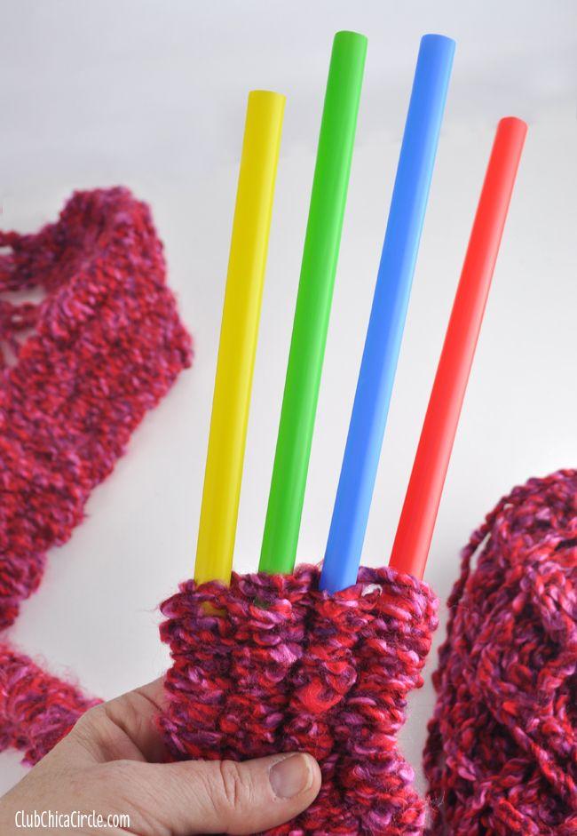 Straw Knitting... so fun and easy!    via www.clubchicacircle.com  #tweencrafts  #knitting