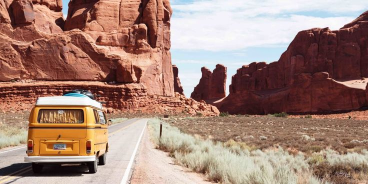 VW Van Road Canyon Desert Grand Canyon