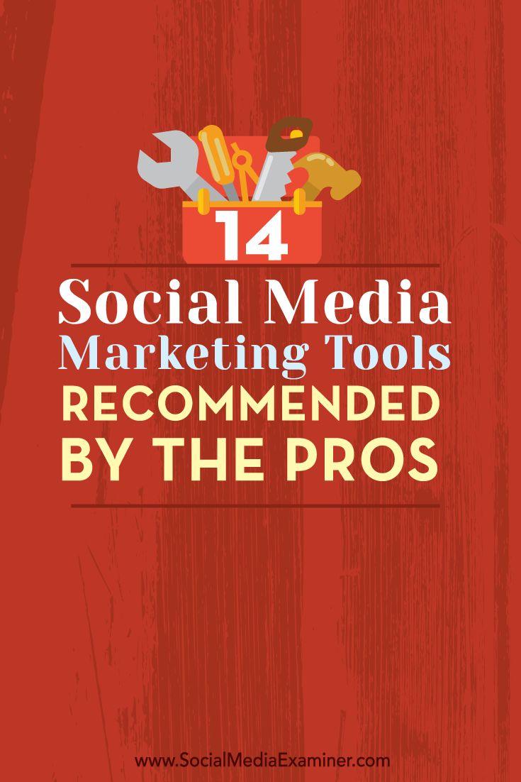 14 Social Media Marketing Tools Recommended by the Pros via Guy Kawasaki