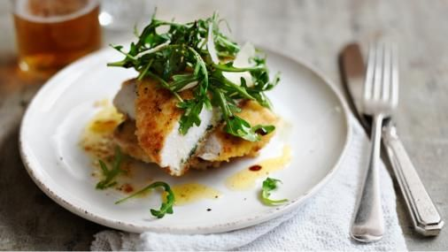 BBC Food - Recipes - Escalope of chicken with rocket, sage and lemon