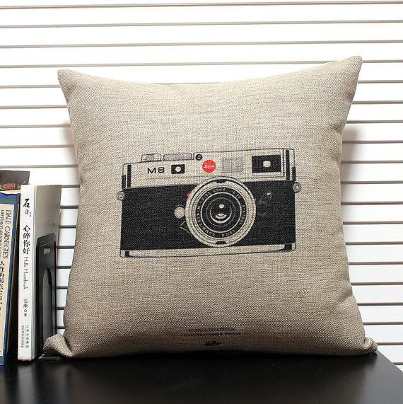 cotton linen Fabrics Decorative shade pillow pillow sham Camera Pillow Cover pillow pattern cushion cover cushion case pillowcase $15
