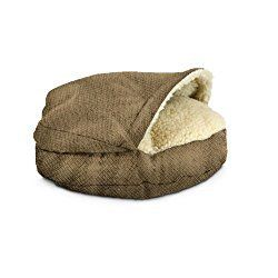 Snoozer Luxury Cozy Cave Pet Bed Small Shona Brown Sugar. Luxury for the little puppy in your home. http://xacey.com/snoozer-cozy-cave-dog-beds/