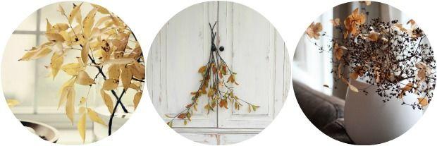 Herfst decoratie: herfsttakken in huis