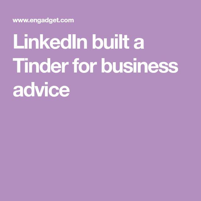 LinkedIn built a Tinder for business advice
