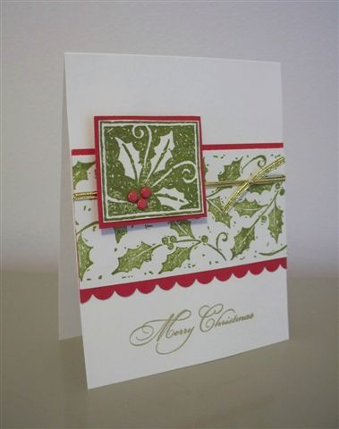 CAS38 Christmas Holly by LaLatty - Cards and Paper Crafts at Splitcoaststampers