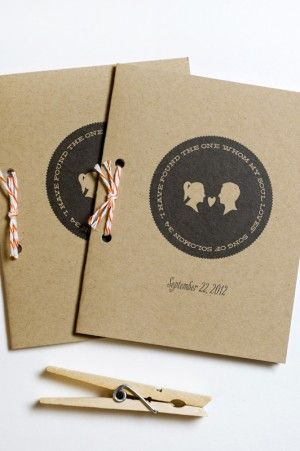 Silhouette and Chevron Stripe Wedding Invitations by Lilly and Louise via Oh So Beautiful Paper (1)