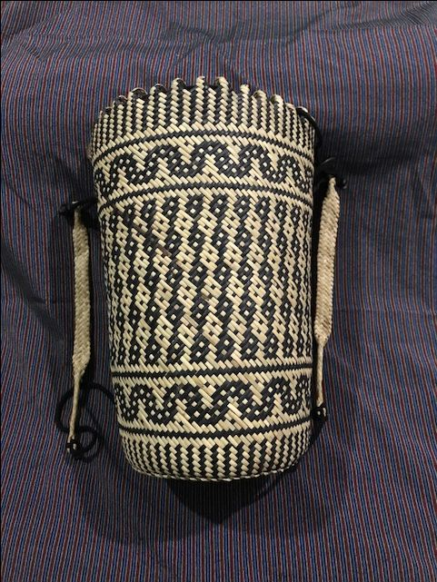 Anjat-style Rattan Basket/Backpack/Beach Tote