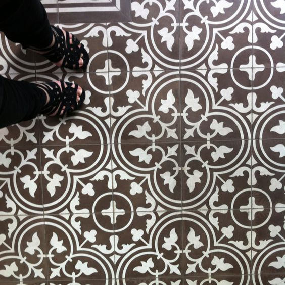 Vintage Floor Tile Pattern At The Peranakan Place In Emerald Hill, Singapore