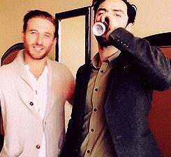 Dean O'Gorman & Aidan Turner hehe they are funny